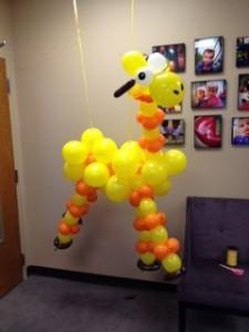 """Small """"Giraffe""""...super cute for a preschool event..."""